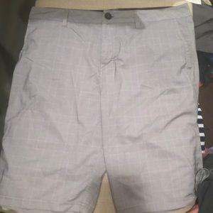 Men's quicksilver plaid shorts